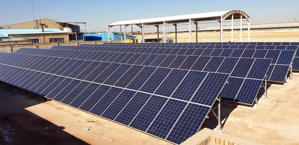 راه اندازی فاز اول نیروگاه خورشیدی توسن خلیج فارس