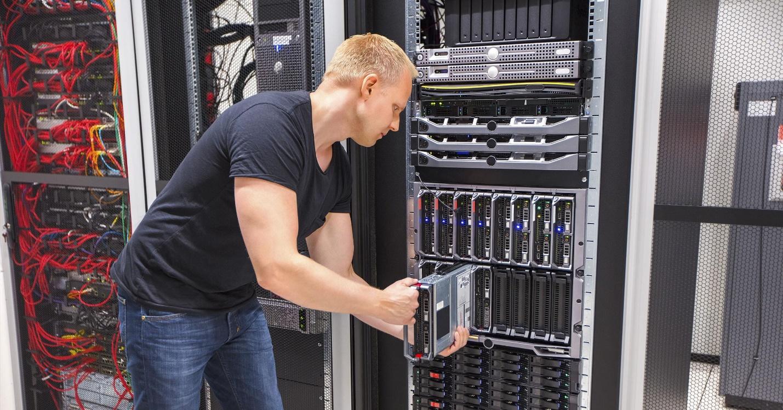 rack server and blade server used together